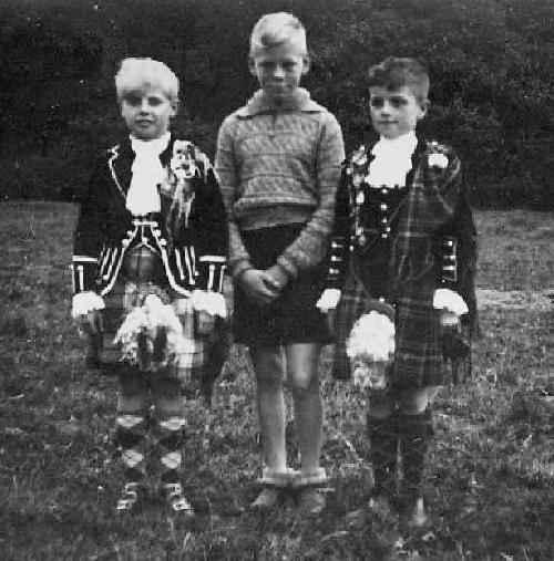 Scottish kilts boys