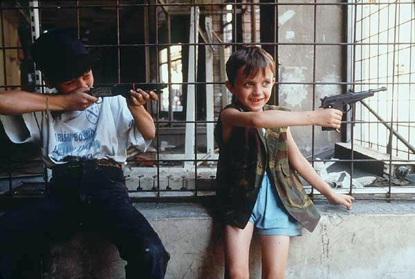 Here Children Playing War Games In Sarajevo The Midst Of Yugoslav Civil Bosnian Serb Siege And Srebrenica Massacre Would