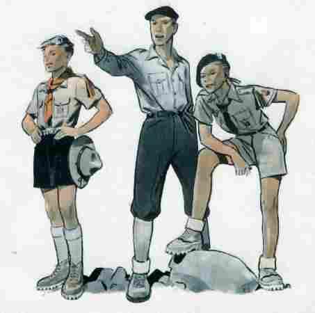French boy scout uniforms: scout associations